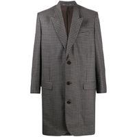 Martine Rose cappotto monopetto a quadri - grigio