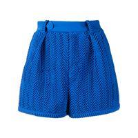 Marco De Vincenzo shorts plissettati - blu