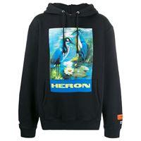 Heron Preston felpa con cappucio heron - nero