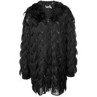 Haculla cappotto con frange - nero