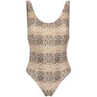 Amir Slama snake print swimsuit - marrone