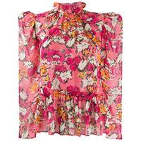 Saloni blusa a fiori - rosa
