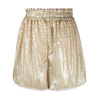 Fendi shorts a righe con paillettes - verde