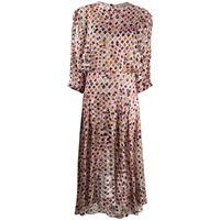 Preen By Thornton Bregazzi vestito brooke con stampa geometrica - rosa