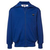 Comme Des Garçons Play - giacca sportiva con logo cuore - men - poliestere - xl - di colore blu