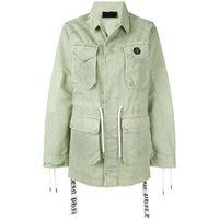 Philipp Plein giacca lunga con tasche - verde