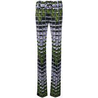 Prada pantaloni a fiori - nero