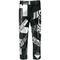 KTZ pantaloni patchwork - nero