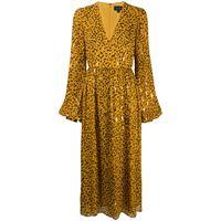 Saloni vestito svasato leopardato - giallo