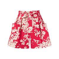 RED Valentino shorts a fiori - rosso