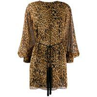 Nili Lotan abito con stampa - marrone