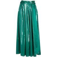 Sies Marjan gonna svasata con cintura - verde