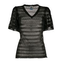 M Missoni t-shirt semi trasparente - nero