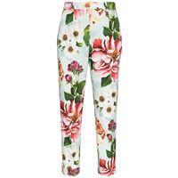 Dolce & Gabbana pantaloni crop a fiori - blu