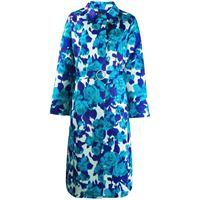 Richard Quinn cappotto motivo floreale con cintura - blu