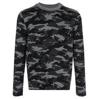 Aztech Mountain maglione a girocollo camouflage - nero