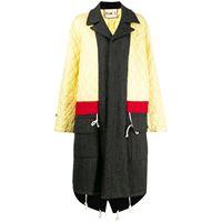 Plan C cappotto trapuntato - giallo
