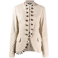 Bazar Deluxe giacca con perline - toni neutri