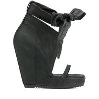 Rick Owens sandali con fiocco - nero