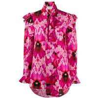 Alexander McQueen blusa a fiori - rosa
