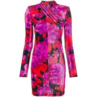 Richard Quinn abito corto con stampa floreale - rosa