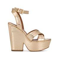 Paris Texas sandali con plateau - oro