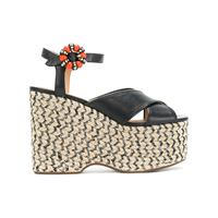 Marc Jacobs sandali con zeppa 'rowan' - nero