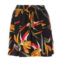 Fendi shorts bird of paradise con stampa - nero