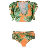 Amir Slama set bikini con stampa - verde
