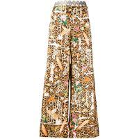 Camilla pantaloni fauna electro con stampa - marrone