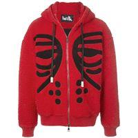 Haculla felpa masked con zip - rosso