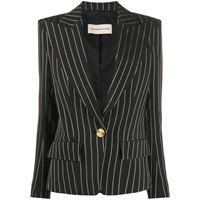 Alexandre Vauthier giacca con scollo profondo a v - nero
