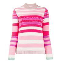 Giada Benincasa maglione con righe - rosa