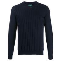 Zanone maglione a coste - blu