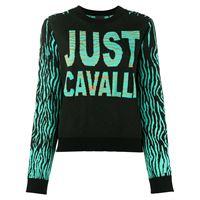 Just Cavalli maglione con design color-block - nero
