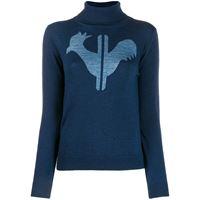 Rossignol maglione classico a collo alto - blu