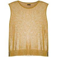 Osklen - maglione smanicato - women - lino/poliammide - g, m - di colore giallo