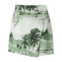 Osklen shorts rj con stampa - verde