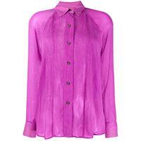 Mara Hoffman camicia semi trasparente - viola