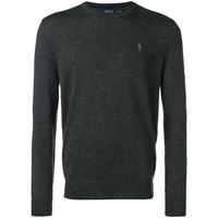 Polo Ralph Lauren maglione aderente con logo - grigio