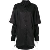 Ann Demeulemeester camicia con maniche svasate - nero