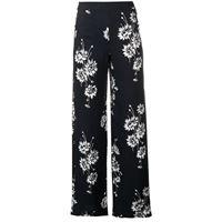 McQ Swallow pantaloni a fiori - nero