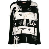 TWINSET maglione con nappe - nero