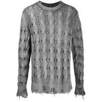 Avant Toi maglione effetto vissuto - grigio