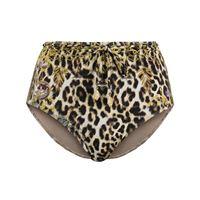 Camilla - slip bikini con stampa - women - poliammide/spandex/elastam - s, m, l, xs - color marrone