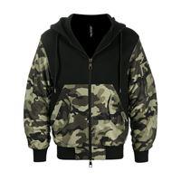 Neil Barrett - giacca con cappuccio - men - cotone/spandex/elastam - m, l, s, xl - di colore nero