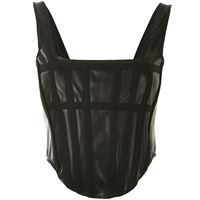 Dion Lee top a pannelli - nero