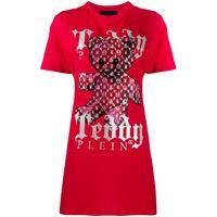 Philipp Plein vestito corto modello t-shirt - rosso