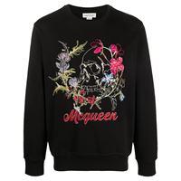 Alexander McQueen felpa con ricamo - nero