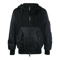 Neil Barrett - giacca con cappuccio - men - cotone/nylon/poliestere/poliuretanoviscosaelastamelastam - s, m, l, xl - di colore nero